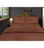 Just Linen Brown Cotton Single Size Flat Bedsheet - Set of 4