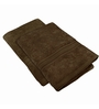 Just Linen Chocolate Cotton 24 x 48 Bath Towel - Set of 2