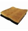 Just Linen Golden & Black Cotton 24 x 48 Bath Towel - Set of 2