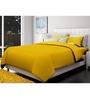 Just Linen Golden Cotton Queen Size Flat Bedsheet - Set of 3