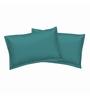 Just Linen Green Cotton 18 x 27 Pillow Cover - Set of 2