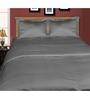 Just Linen Grey Cotton Single Size Flat Bedsheet - Set of 4