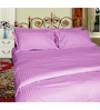 Just Linen Lilac Satin Single Size Flat Bedsheet - Set of 4