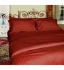 Just Linen Maroon Fabric Single Size Comforter