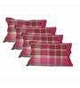 Just Linen Multicolour Cotton 18 x 27 Pillow Cover - Set of 4