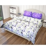 Just Linen Multicolour Cotton King Size Flat Bedsheet - Set of 3