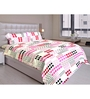 Just Linen Multicolour Cotton Queen Size Bedding Set - Set of 4