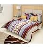 Just Linen Multicolour Cotton Queen Size Bedding Set - Set of 6