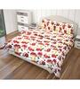 Just Linen Multicolour Cotton Queen Size Flat Bedsheet - Set of 3