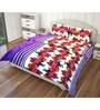 Just Linen Multicolour Polyester Queen Size Flat Bedsheet - Set of 3