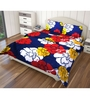 Just Linen Multicolour Polyester Single Size Flat Bedsheet - Set of 4