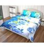 Just Linen Multicolour Polyester Single Size Flat Bedsheet - Set of 4