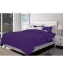 Just Linen Purple Cotton Queen Size Fitted Bedsheet - Set of 3