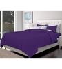 Just Linen Purple Cotton Queen Size Flat Bedsheet - Set of 3