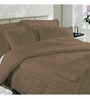 Just Linen Rust Cotton King Size Flat Bedsheet - Set of 3