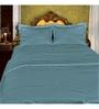 Just Linen Sea Green Cotton Queen Size Flat Bedsheet - Set of 3