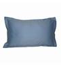 Just Linen Sky Blue Cotton 18 x 27 Pillow Cover - Set of 2