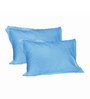 Just Linen Sky Blue Cotton 18 x 27 Pillow Cover - Set of 2