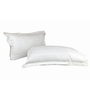 Just Linen White Cotton 18 x 27 Pillow Cover - Set of 2