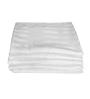 Just Linen White Cotton Queen Size Flat Bedsheet - Set of 5