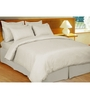 Just Linen White Cotton Single Size Fitted Bedsheet - Set of 3