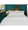 Just Linen White Cotton Single Size Flat Bedsheet - Set of 5
