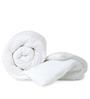 Just Linen White Fabric Single Size Duvet Cover