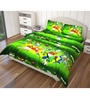 Just Linen Yellow and Green Polyester Single Size Flat Bedsheet - Set of 4