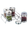 JVL Silver Stainless Steel 100 ML 5-piece Canister Set
