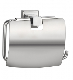 Jwell Toilet Tissue Paper Roll Holder / Dispenser With Lid - Stainless Steel (SL LPH)