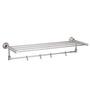 Jwell Silk Series Silver Stainless Steel Bathroom Towel Rod