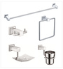 Jwell Silver Stainless Steel Bathroom Fixture Set