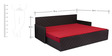 Kaiden Slider Sofa cum Bed in Red Colour by Auspicious
