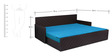 Kaiden Slider Sofa cum Bed with Two Pillows & Five Round Bolsters in Sky Blue Colour by Auspicious