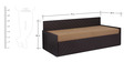Kaiden Slider Sofa cum Bed with Two Pillows in Brown Colour by Auspicious