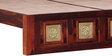 Kasiya Queen Size Bed with Brass Repousse Work in Honey Oak Finish by Mudramark