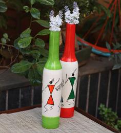 Kalaplanet Multicolor Wooden Vase Set