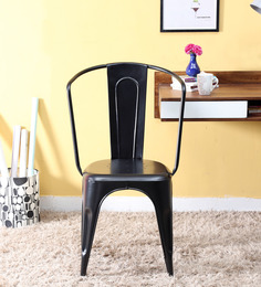 Ekati Metal Chair in Black Colour by Bohemiana