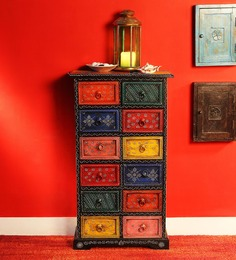Raaga - Painted Chest with Twelve Drawers by Mudramark