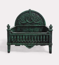 Karara Mujassme Victorian Style Antique Green Cast Iron Garden Accent