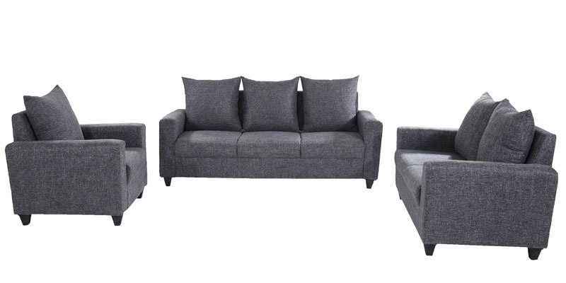 Kayoto 3+2+1 Sofa Set in Grey Colour by Looking Good Furniture