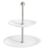Kahla Cafe Sommelier White Porcelain 2 Tier Cake Stand