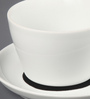 Kahla Touch Black & White Porcelain 250 ML Five Senses Capuccino Cup & Saucer