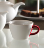 Kahla Touch Dark Red & White Porcelain 250 ML Five Senses Cappuccino Cup