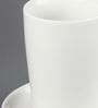 Kahla Touch Pink & White Porcelain 350 ML Five Senses macchiato  Cup & Saucer