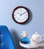 Kaiser Brown Wooden 11 Inch Round Wall Clock
