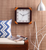 Kaiser Brown Wooden 13 x 13 Inch Square Wall Clock