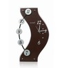 Kaiser Black & Silver Wooden 18 x 11 Inch Cola with Unusual Design Digits Wall Clock