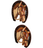 Kalaplanet Rose Wood 16 x 7 Inch Horse Framed Wall Painting - Set of 2