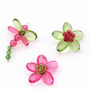 Kanhai Green Acrylic Beads & Metal Wire Quirky Garden Handcrafted Fridge Magnet - Set of 3
